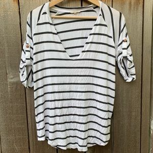 Stitch Fix 41 Hawthorn | Striped B&W Shirt